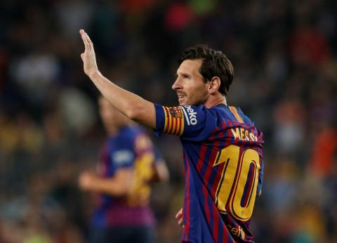 Lionel Messi, durante un partido del FC Barcelona