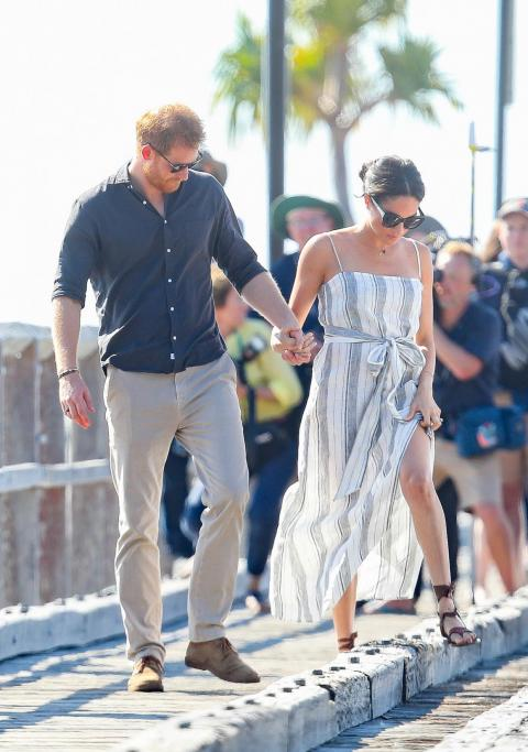 Markle also wore a dress by Reformation.