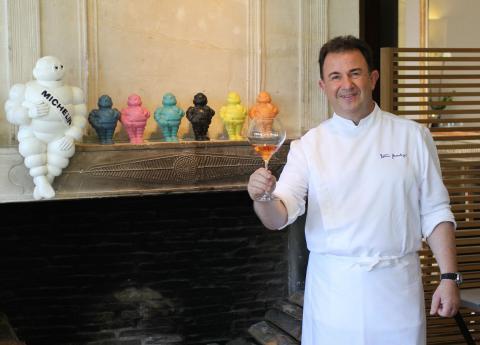 Martín Berasategui, en el restaurante Lasarte