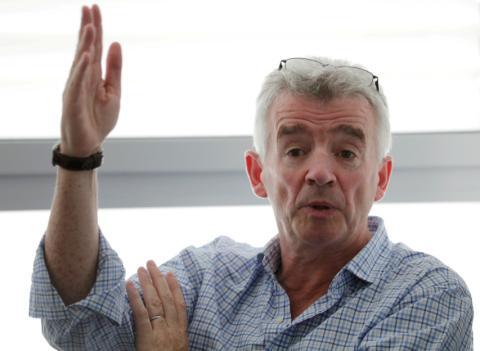 Michael O'Leary, presidente de Ryanair en una conferencia