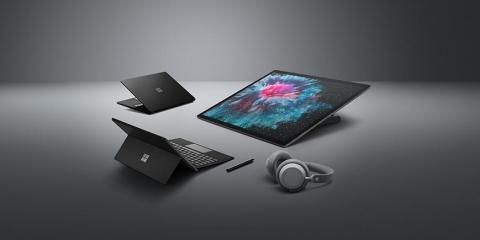 Microsoft just announced three new premium Surface computers and a pair of headphones — and we got to try all of them