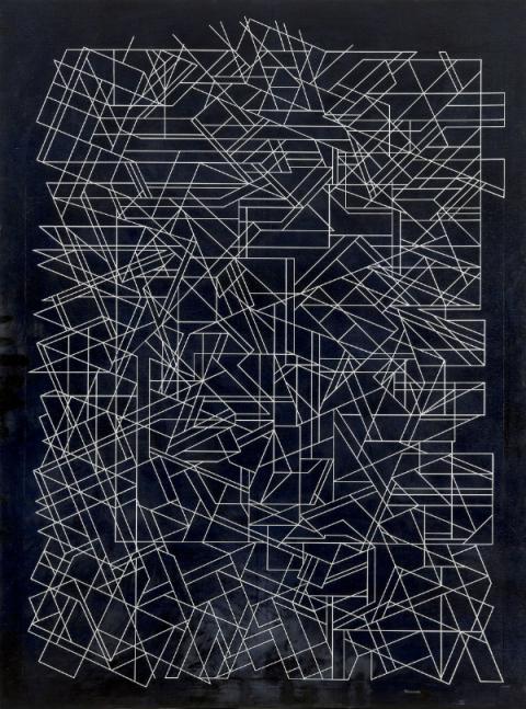 """""""Minos"""", un lienzo pintado en 1992 por Pablo Palazuelo"""