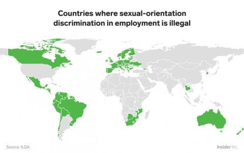 Más países han dado grandes pasos para abordar la discriminación basada en la orientación sexual en el lugar de trabajo.