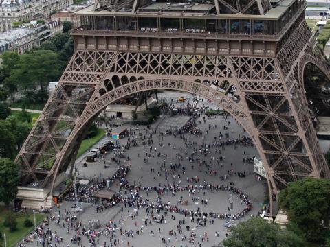 The most popular tourist attraction is undoubtedly the Eiffel Tour where visitors wait up to three hours to climb to the top.