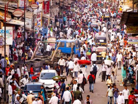 Mumbai is the second largest city in India with just under 20 million people.