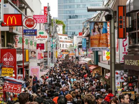 The narrow street of Harajuku is a colorful shopping hub known for its locals dressing up as Harajuku girls.