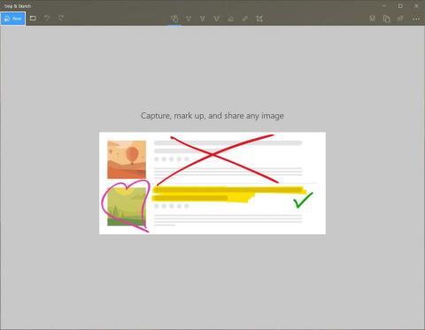La nueva función Snip & Sketch pronto tomará el relevo de la herramienta Snipping Tool existente para tomar capturas de pantalla [RE]
