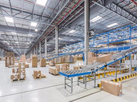 Next, we headed to the distribution center. It is the largest of four in Spain and ships products to Zara's 2,238 stores.