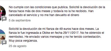 oBike en Facebook