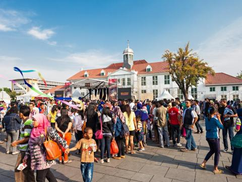 The Old Town square is a popular tourist spot but many travel websites recommend arriving early to avoid the mass crowds.