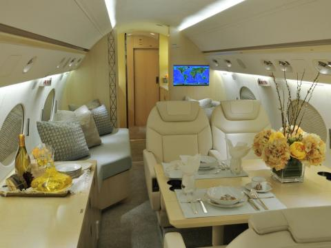 One major perk of flying private is that you get to decide what you want to eat, Roth said.