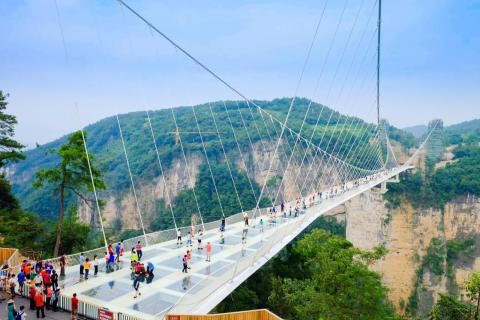 One place I would unequivocally avoid in China is the Zhangjiajie Grand Canyon Glass Bridge. It is the longest and highest glass bridge in the world.