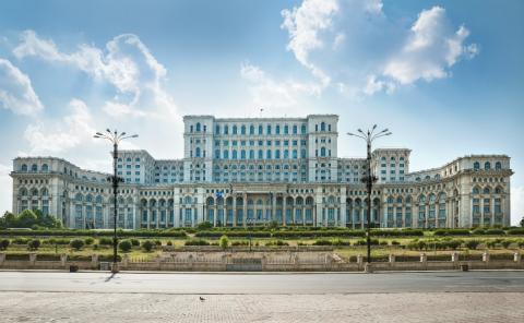 El Parlamento de Bucarest. Rumanía.