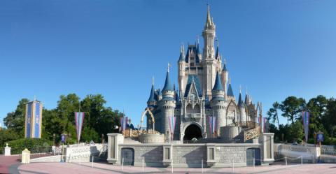 El parque temático Magic Kingdom en Orlando (EE.UU.)