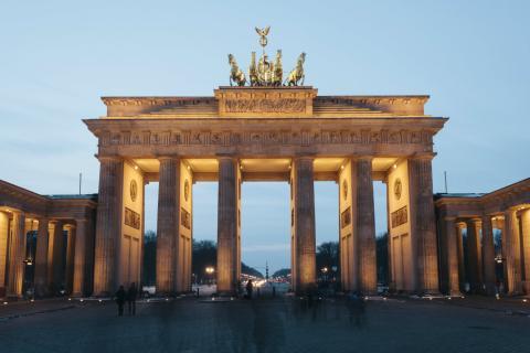 Puerta de Brandeburgo en Berlín. Alemania.
