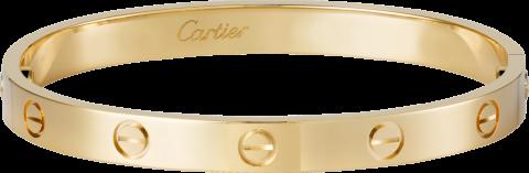 Una pulsera Love de oro amarillo de Cartier