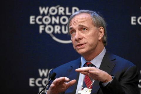 Ray Dalio en el Foro Económico de Davos en 2014.