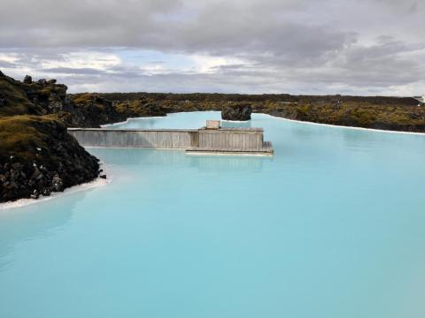 El resort es famoso por su agua azul lechosa [RE]