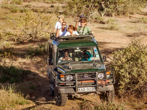 Safari experiences are a major tourist attraction in Johannesburg, but several safari vehicles can be over crowded and with limited window seats — some tourists get stuck cruising in the middle.