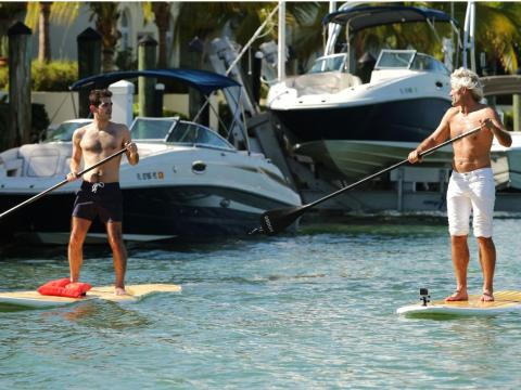 ... stand-up paddleboards ...