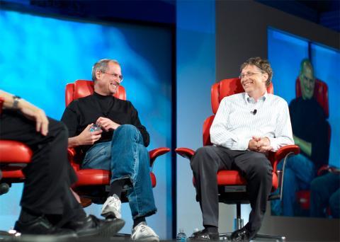 Steve Jobs y Bill Gates, en una fotografía de archivo.