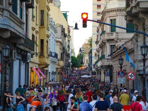 The Sunday San Telmo market is a major attraction for locals and tourists. Huge crowds are drawn to the 270-stall open air market.