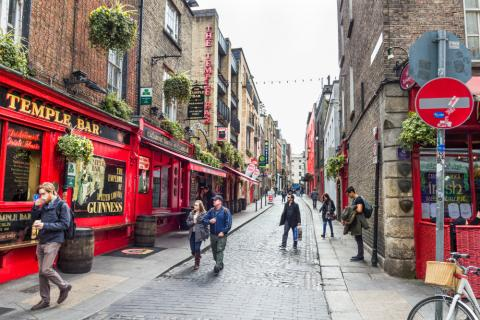 Temple Bar en Dublín. Irlanda.