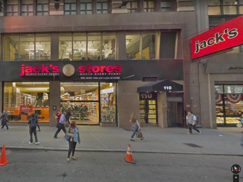 From there, they headed to Jack's, a discount grocery chain a few blocks from Penn Station.