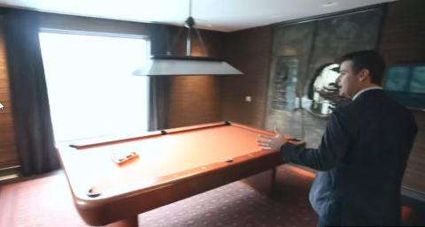 Those are the doors to the room with the pool table.