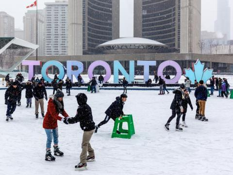 Toronto, Canada, is the fourth-largest city in North America with 6 million inhabitants.