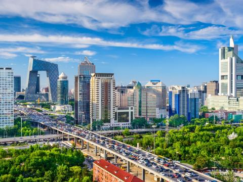The traffic in Beijing is so congested, the government limits who can drive on certain days and regulates the law with designated license plates.