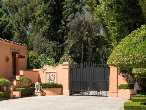 Visitors to the estate will have to go through a wrought-iron gate and up the 800-foot driveway.