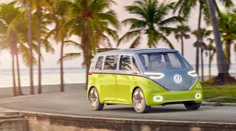 Volkswagen hopes the I.D. Buzz Cargo and I.D. Buzz concept electric microbuses will transition to autonomous driving by the mid-2020s.