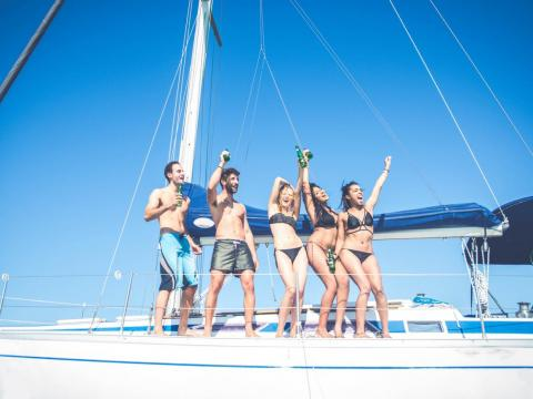 You could have your friends or extended family pitch in and spend some quality time together on the water.