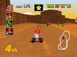 """1997 - """"Mario Kart 64"""" (Nintendo 64)"""