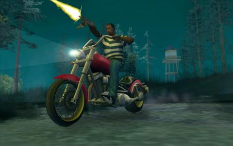 """The biggest game of 2004 was """"Grand Theft Auto: San Andreas"""" for the PlayStation 2, seen above."""