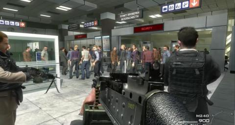 "During a controversial campaign mission in ""Call of Duty: Modern Warfare 2,"" players can choose to shoot civilians in a Russian airport."