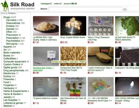 A snapshot of Silk Road's website
