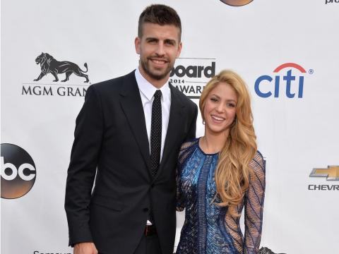 Gerard Piqué y Shakira en los Premios Billboard 2014.
