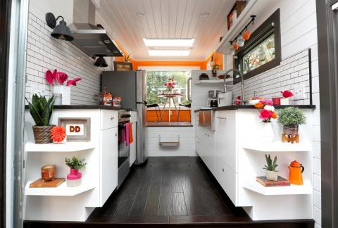 Dunkin Donuts has also debuted a tiny home design in New York City. This one runs entirely on coffee.