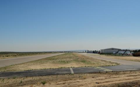 Aeródromo de Casarrubios del Monte, vista de la pista.