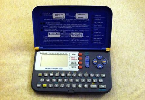 Casio Secret Sender 6000, una agenda electrónica con la que podías mandar mensajes y cambiar de canal