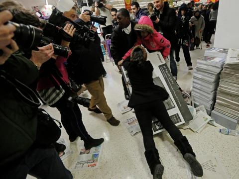 And, like in the US, bargain hunters have been known to get quite competitive in stores on Black Friday.