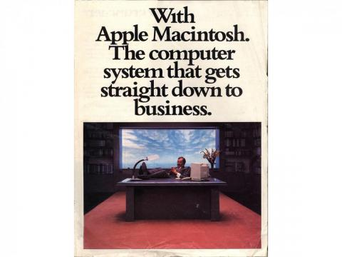 Apple tried to appeal to the business crowd back in the mid 1980s.