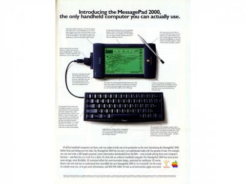 Apple tried to make handheld devices that could be used like computers, much like it does today with the iPad.