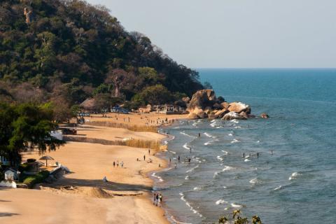 Bahía del lago Malawi