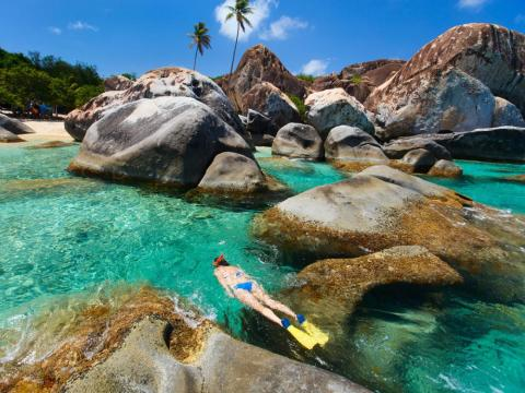 British Virgin Islands is perfect for an adventurous couple.