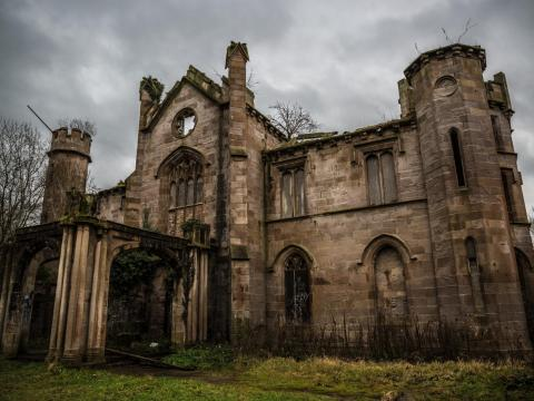 The Cambusnethan House in North Lanarkshire, Scotland, is one of the last remaining Gothic mansions in the country.
