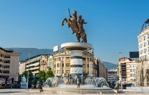 La capital de Macedonia, Skopje
