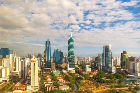 El centro de la Ciudad de Panamá, capital del país